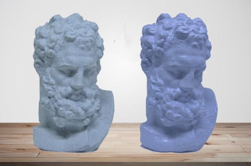 Vapor de Acetona antes e depois