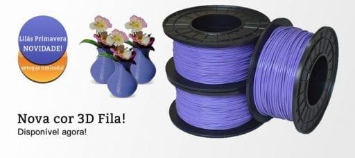 Nova Cor 3D Fila Filamento ABS Lilás Primavera