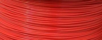 Amostra Filamento ABS - Vermelho Aranha 1,75mm