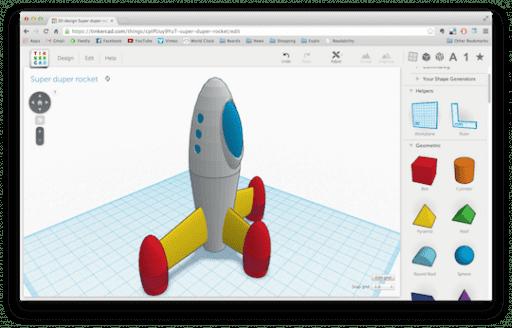 Tinkercad Modelagem 3D Impressão 3D