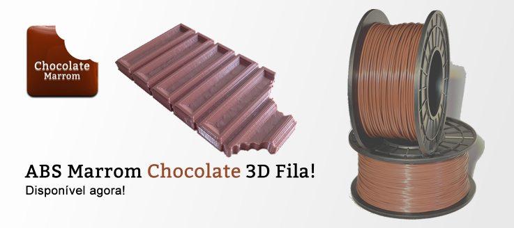 Nova cor 3D Fila: Marrom Chocolate – Disponível para Filamentos ABS