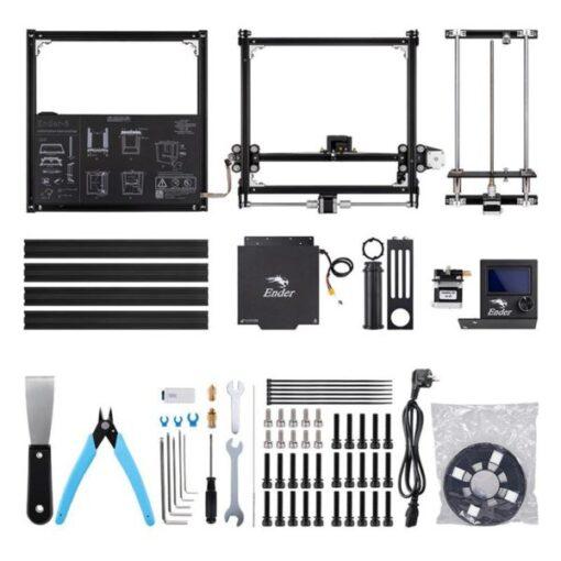 Imagem mostrando todos os componentes do Kit da impressora Ender 5