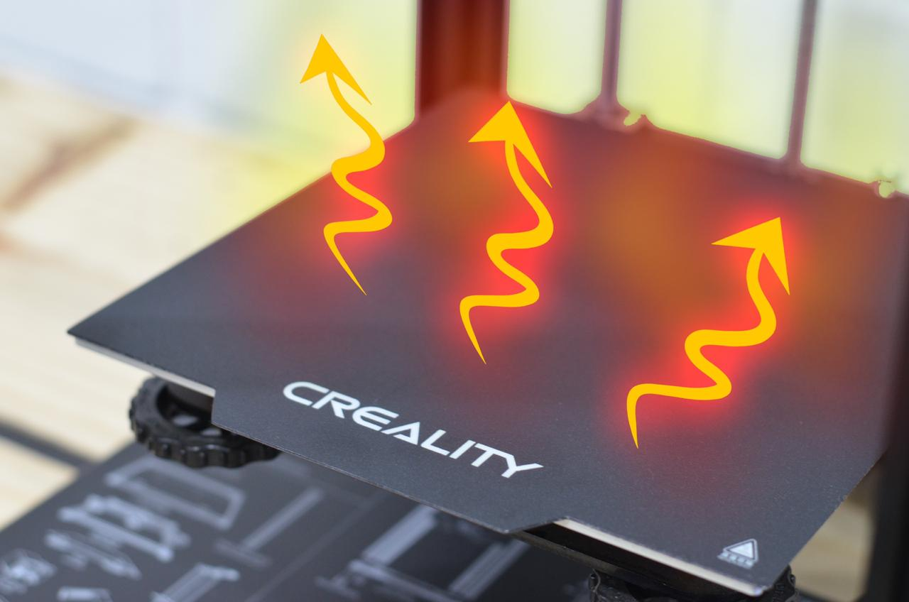 Foto ilustrativa da mesa da impressora 3D aquecendo