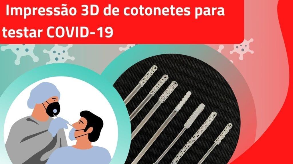 Cotonetes impressos ajudam contra COVID-19