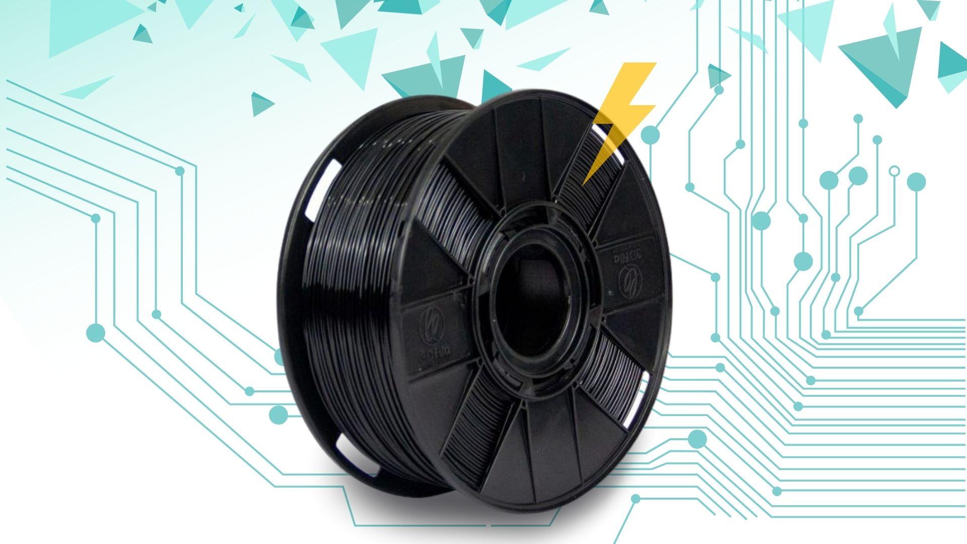 Foto de capa referente ao filamento Condutivo