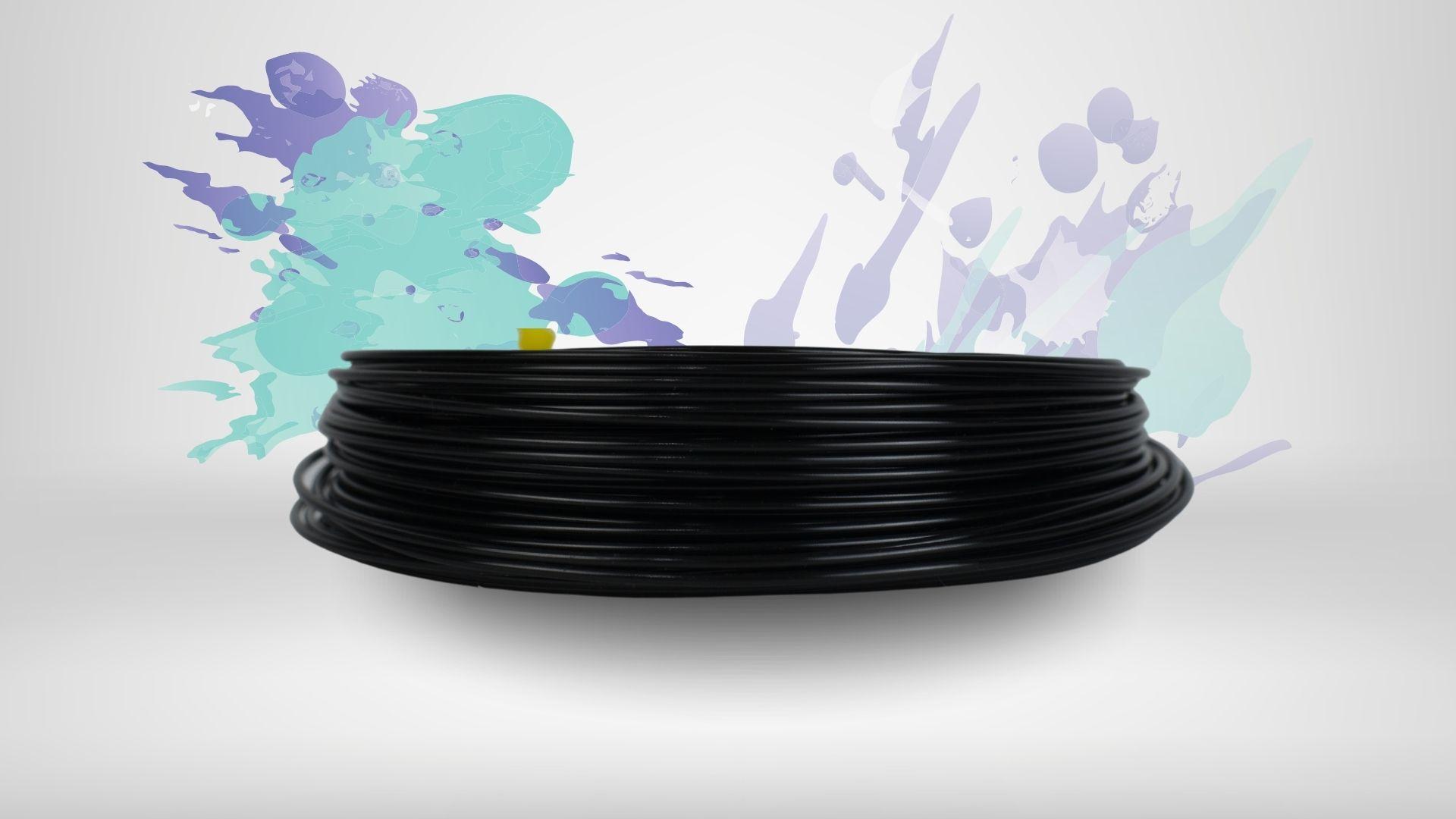 Foto da cor disponível para o filamento condutivo
