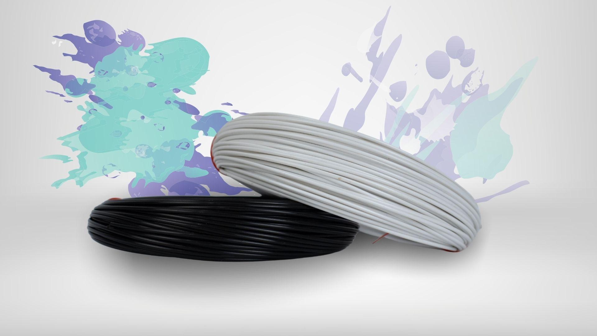 Foto das cores disponíveis para o filamento FRP