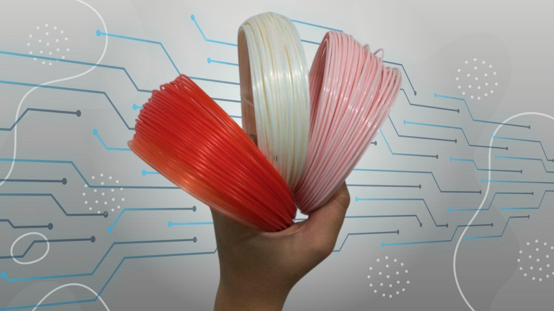 filamentos ecológicos variação de cor