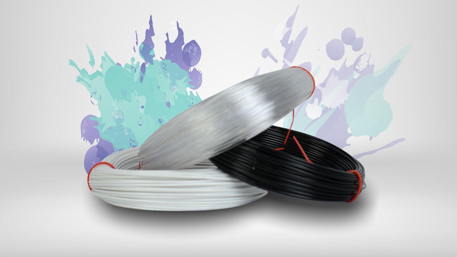 Foto das cores disponíveis para o filamento Tritan