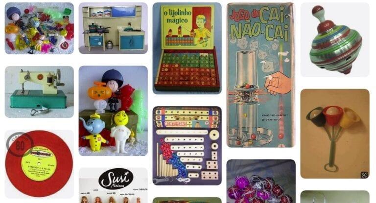 Exemplos de brinquedos dos anos 60 no Brasil