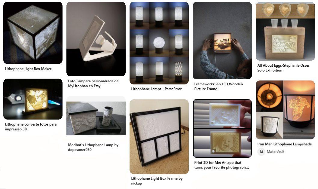 Ideias para imprimir Lithophane