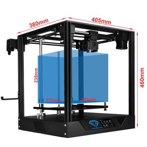 impressora 3d sapphire pro e suas medidas