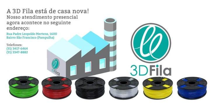 Imagem de divulgação da nova sede da 3d fila para impressoras 3d e filamentos 3d