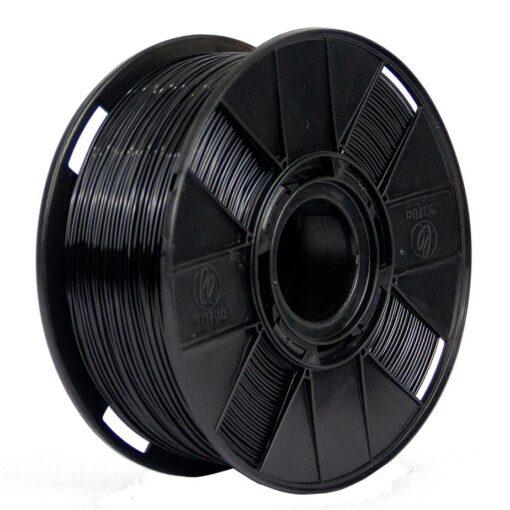 Foto de um carretel de filamento tritan ht preto de 1kg