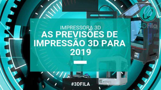 imagem futuristica mostranso impressoras 3d e uma mulher observando o futuro - também tem texto que informa o título do artigo as previdões de impressão 3d para 2019