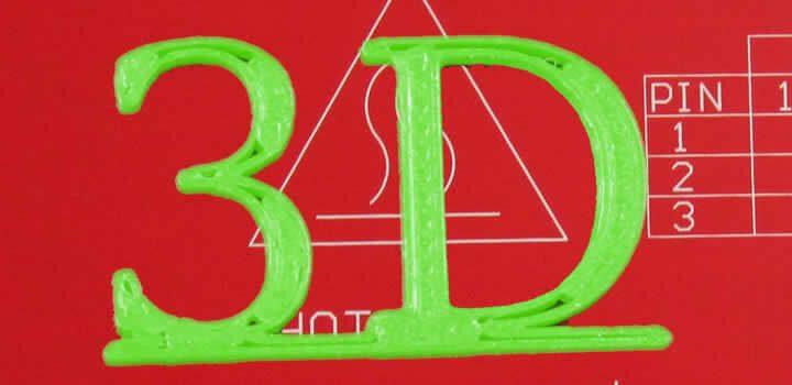 Espaços entre o preenchimento e a parede externa com filamento 3d pla verde basic para impressora 3d fundo de uma mesa aquecida vermelho