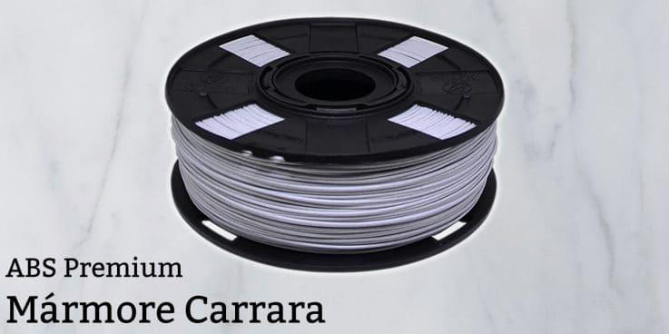 Filamento ABS Mármore Carrara Premium