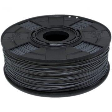 Foto do carretel de filamento pla cinza para impressora 3d