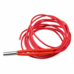 1 metro de Fio vermelho de teflon ou ptfe com ponta metálica para aquecimento do bico de impressora 3d