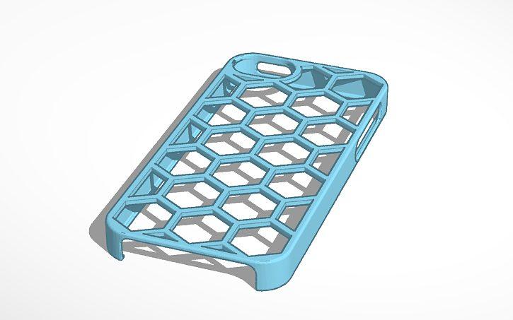 Capa de celular feita no tinkercad para impressão 3d
