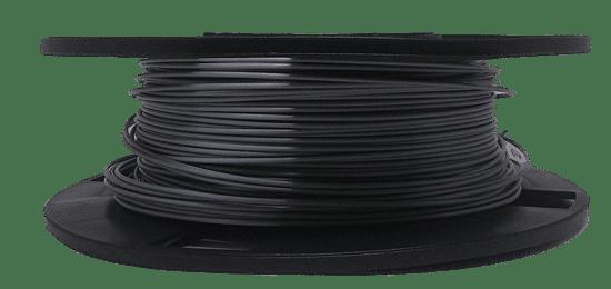 carretel de filamento pla prata deitado, esta foto demonstra como o carretel não deve ser armazenado. O carretel deve ser armazenado verticalmente, independente da marca do filamento, como 3dprime, 3dprocer, 3dlab, filamentos 3d brasil, monster e muitos outros