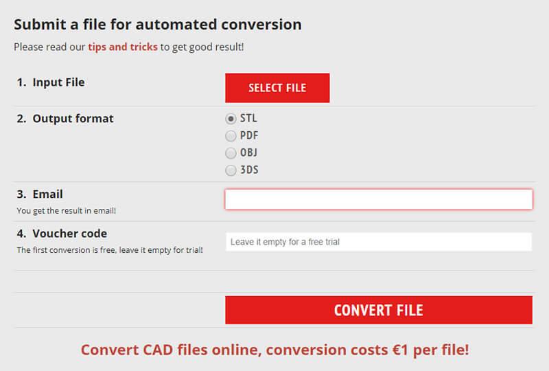 aplicativo online para conversão de diversos arquivos 3d para impressora 3d