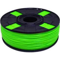 foto do carretel com filamento abs premium eco que tem variação de cor verde e vermelho