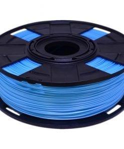 foto de filamento abs premium eco com variação de cor em tom azul