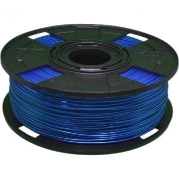 Foto de um carretel de filamento pla azul basic