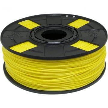 foto do carretel de filamento pla amarelo basic para impressora 3d