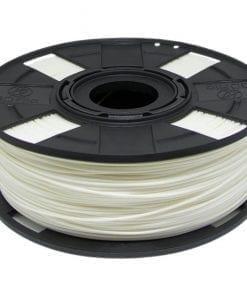 Foto de um carretel de filamento pla branco basic