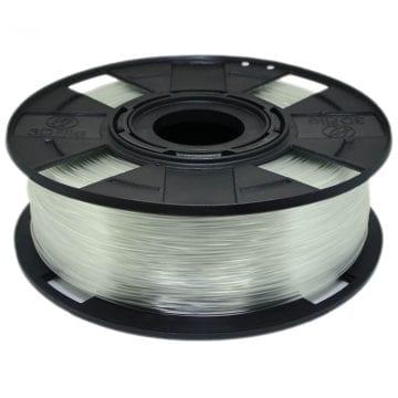 Foto de um carretel com filamento pla natural transparente basic