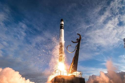 foto do lançamento do foguete feito com uma impressora 3d pela nasa e rocket 3d