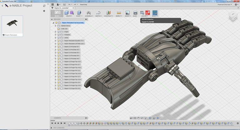 exemplo de projeto no fusion 360