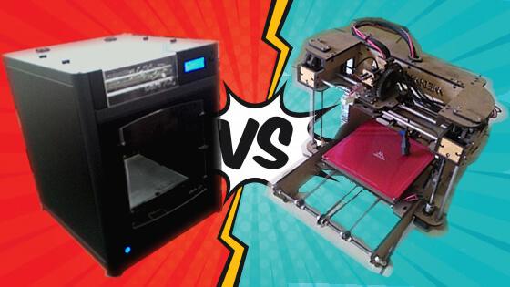 Impressora 3D Fechada vs Impressora 3D Aberta