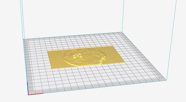 foto mostrando como ficará a impressão 3d do lithophane impressora 3d