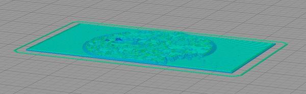 lithophane para impressora 3d fatiado no programa fatiador simplify 3d para impressora 3d