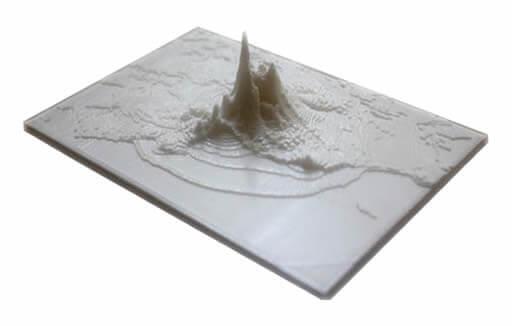 mapa com impressora 3d