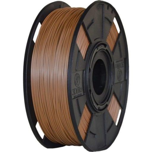 filamento pla marrom wood