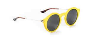 Foto dos óculos amarelos de sol da octobre71