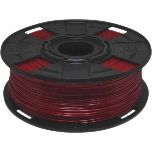 Foto de um carretel de Filamento PLA Vermelho para Impressora 3D