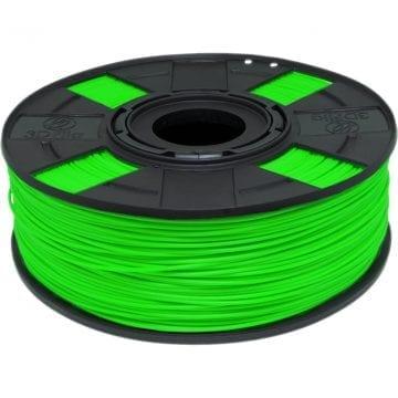 Foto do carretel de filamento pla verde basic vivo como caneta marca texto