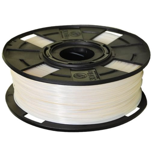 Carretel de Filamento PLA Branco EasyFill Pearl 3D Fila - Imagem com 1kg de material para impressora 3d