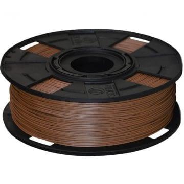 Carretel de Filamento PLA Marrom EasyFill Wood 3D Fila - Imagem com 1kg de material para impressora 3d