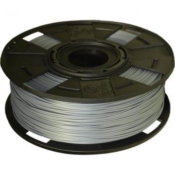 Carretel de Filamento PLA Prata EasyFill Machine 3D Fila - Imagem com 1kg de material para impressora 3d