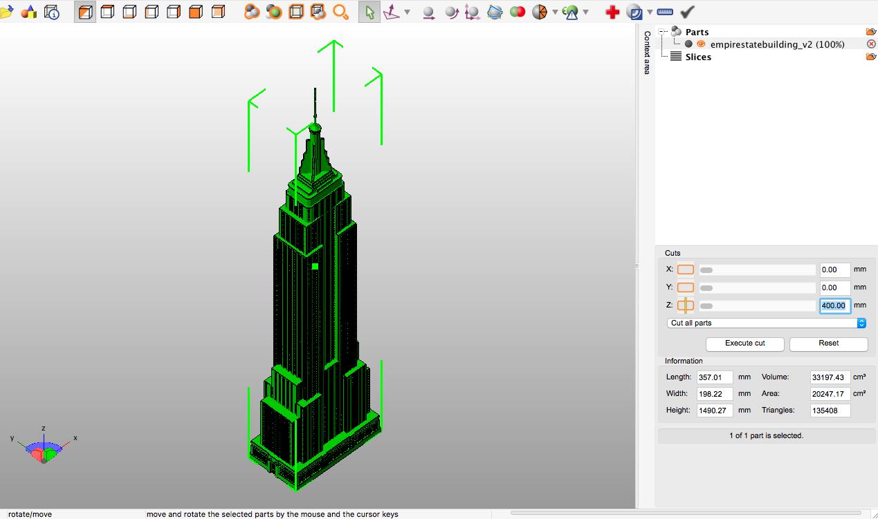 Cortando modelo 3D