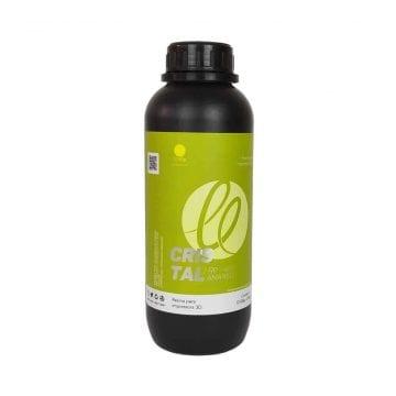 Foto do frasco de resina para impressora 3d dlp e sla 3d fila cristal amarelo