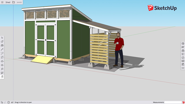 exemplo de projeto no sketchup