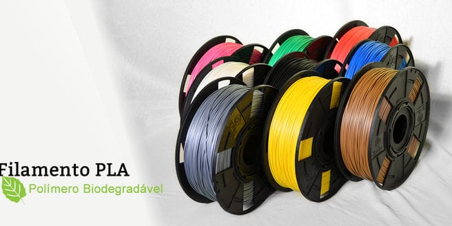 Filamento PLA Polímero Biodegradável